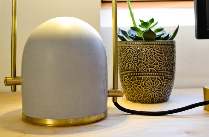 Frontal Factory Concrete Desk Lamp-5