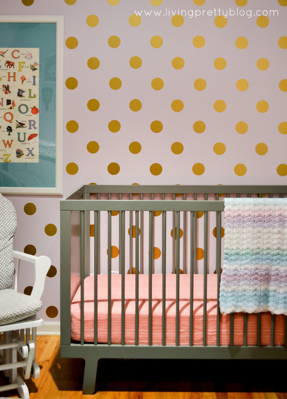 Simple Polka Dot Wall DIY