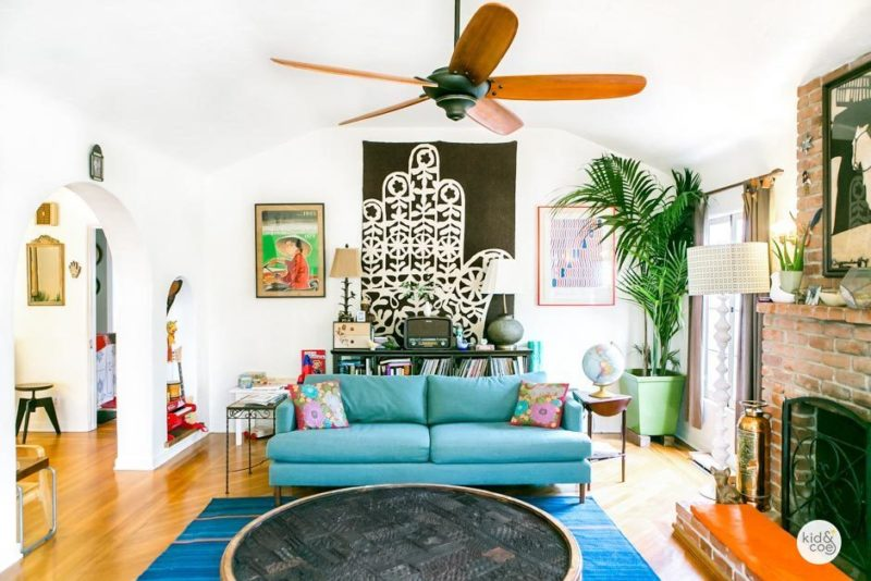 Venice Beach Rental Home Boho Living Room