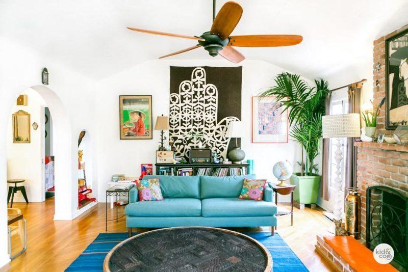 Venice Beach Rental Home Boho Living Room