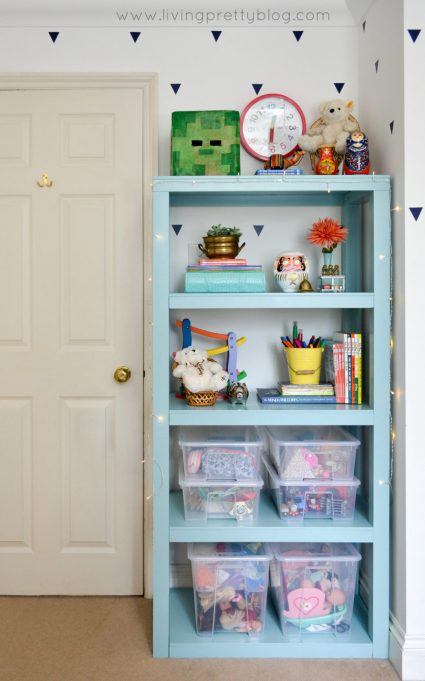 Mint Parsons Bookcase - Kids Room Toy Storage