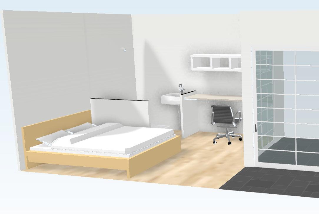 3D Rendering of Potential 1st Floor Extension Showing Bonus Room and Walk Way