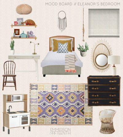 Mood Board for Eleanor's Global Boho Bedroom - Kids Room Design Plans