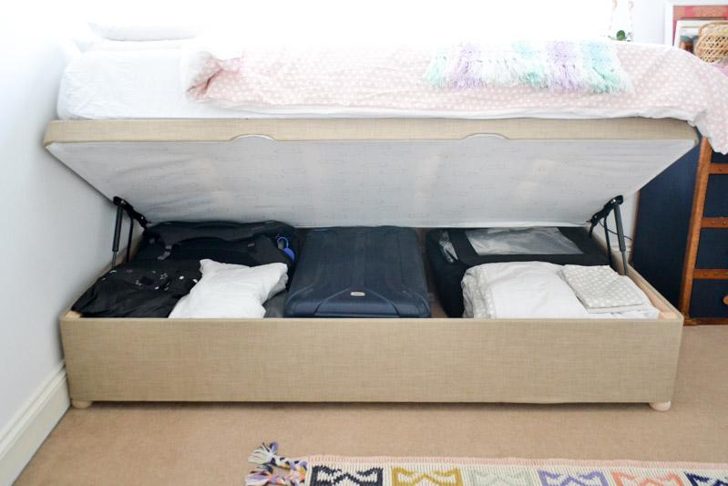 One Room Challenge Week 4 - Ottoman Storage Bed