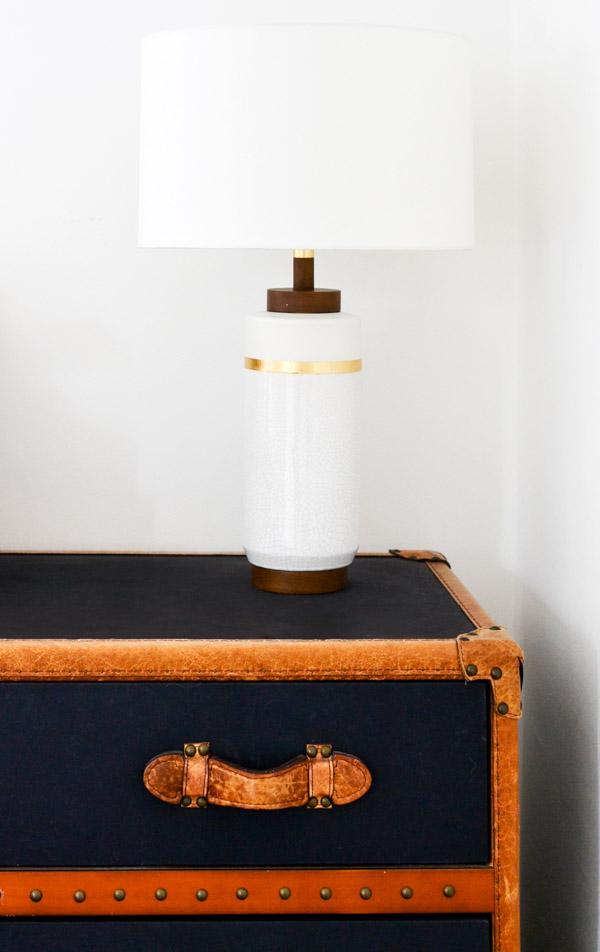 One Room Challenge Week 4 - West Elm Roar & Rabbit Lamp