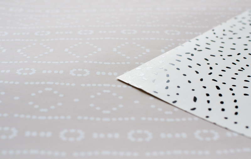 Spoonflower Removable Wallpaper Woven Peel & Stick vs Smooth Water Activated