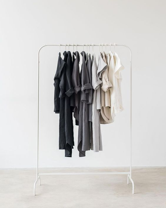 Curated wardrobe in restricted colour palette by Ode to Sunday