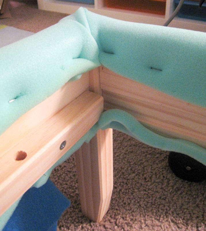 Foam batting for DIY upholstered bed
