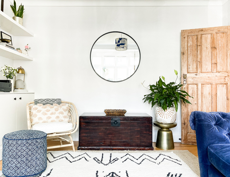 Global eclectic living room makeover