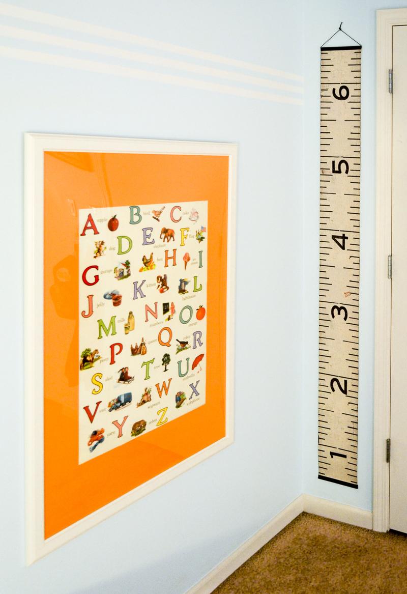 Alphabet print and growth chart