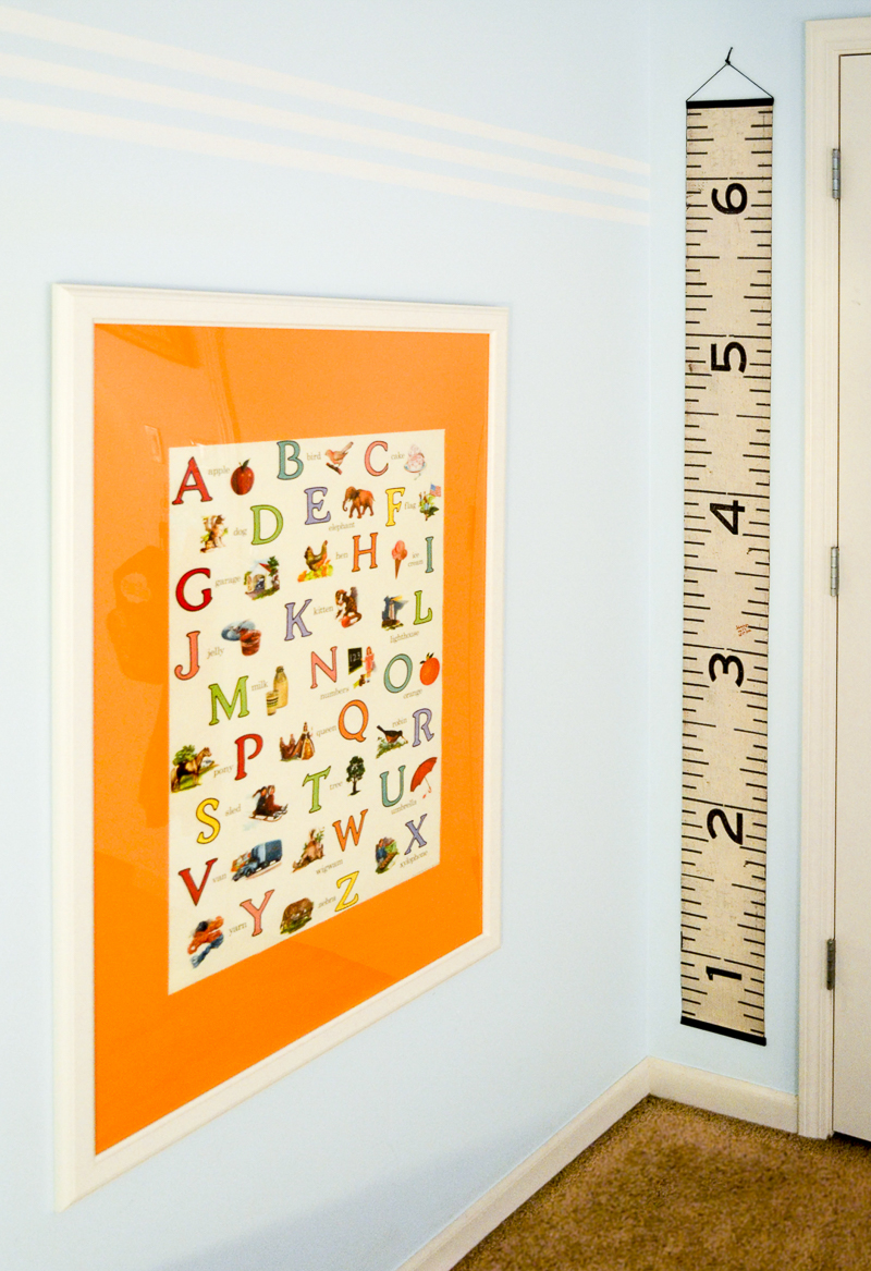 Alphabet print and growth chart