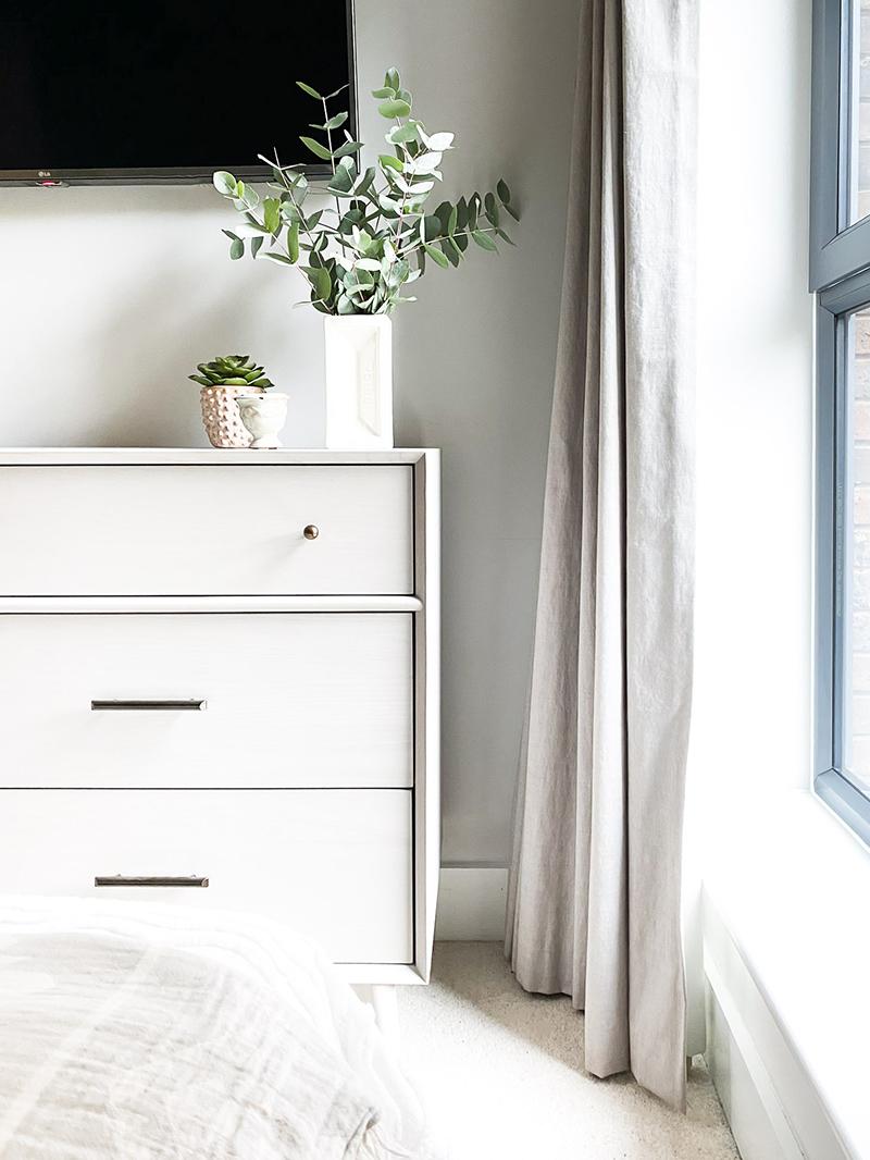 West Elm Midcentury Chest of Drawers in modern boho bedroom
