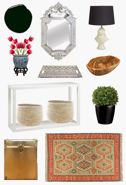 Vintage Eclectic Entryway Mood Board Design