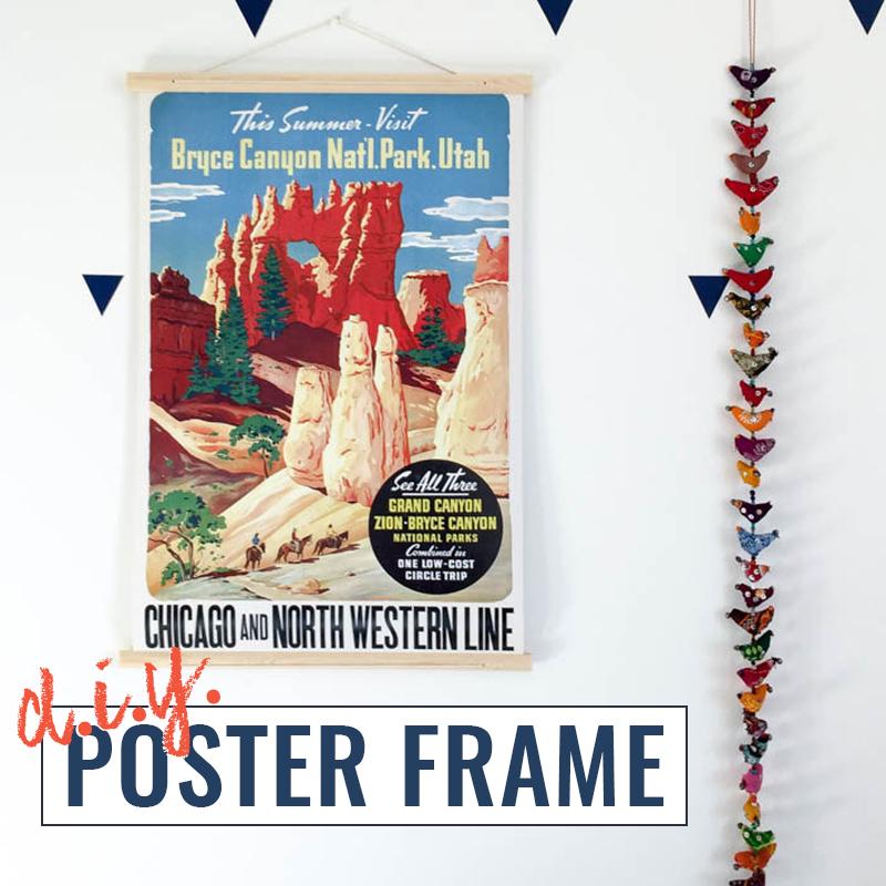 DIY poster frame tutorial