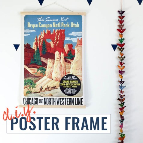 DIY poster frame tutorial