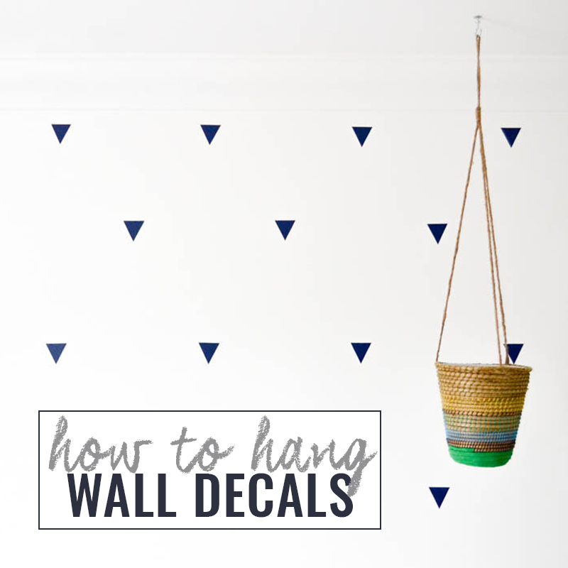 How to Hang Wall Decals DIY