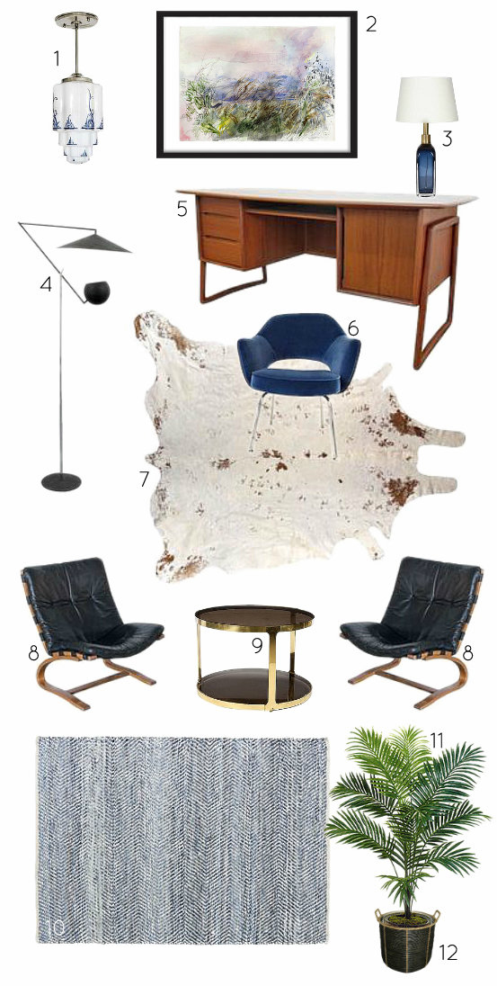 Mid Century Office Design Mood Board