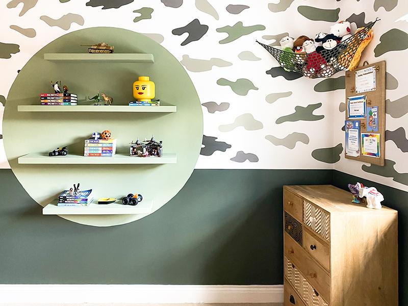 Floating shelves for lego display + storage