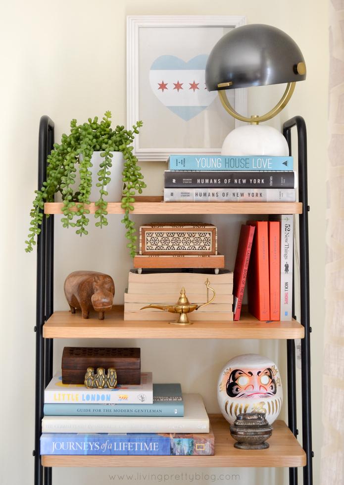 Shelf styling on Heals Bookcase