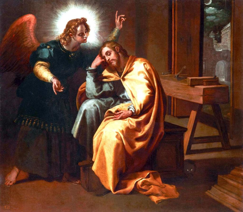Risultati immagini per SAN GIUSEPPE SOGNO ANGELO