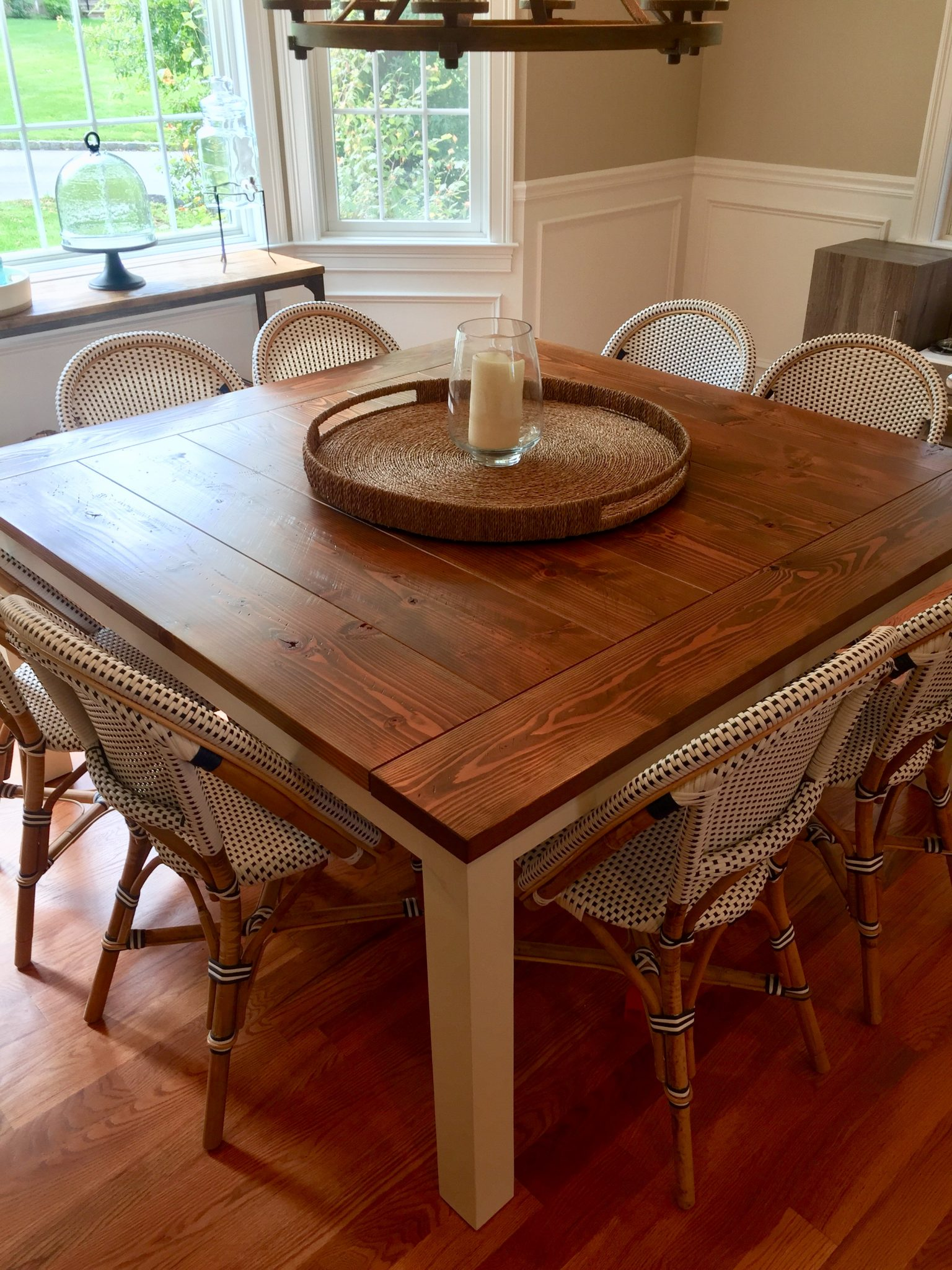 Square Farmhouse Tables Made To Order Emmor Works