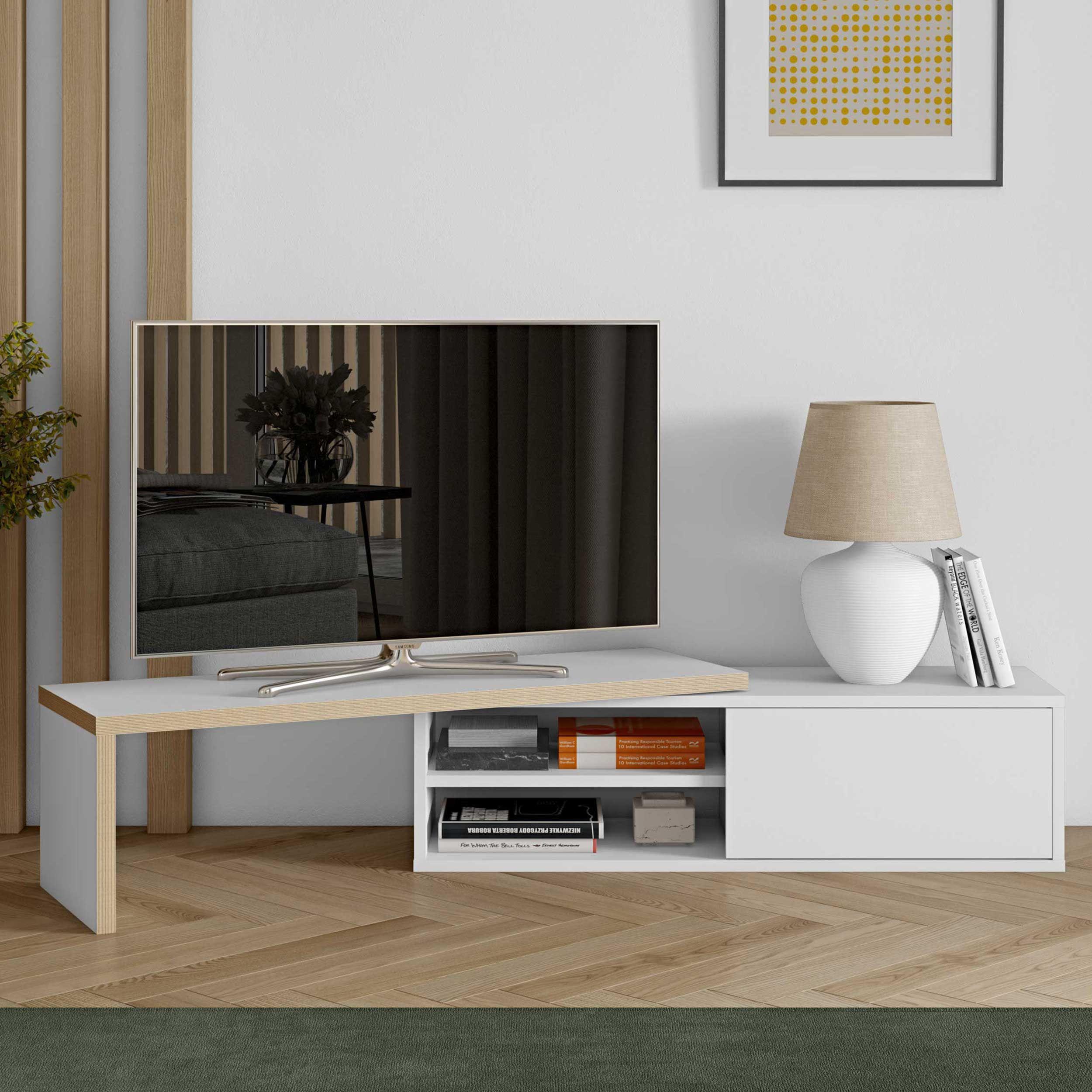 meuble tv movie 110cm blanc