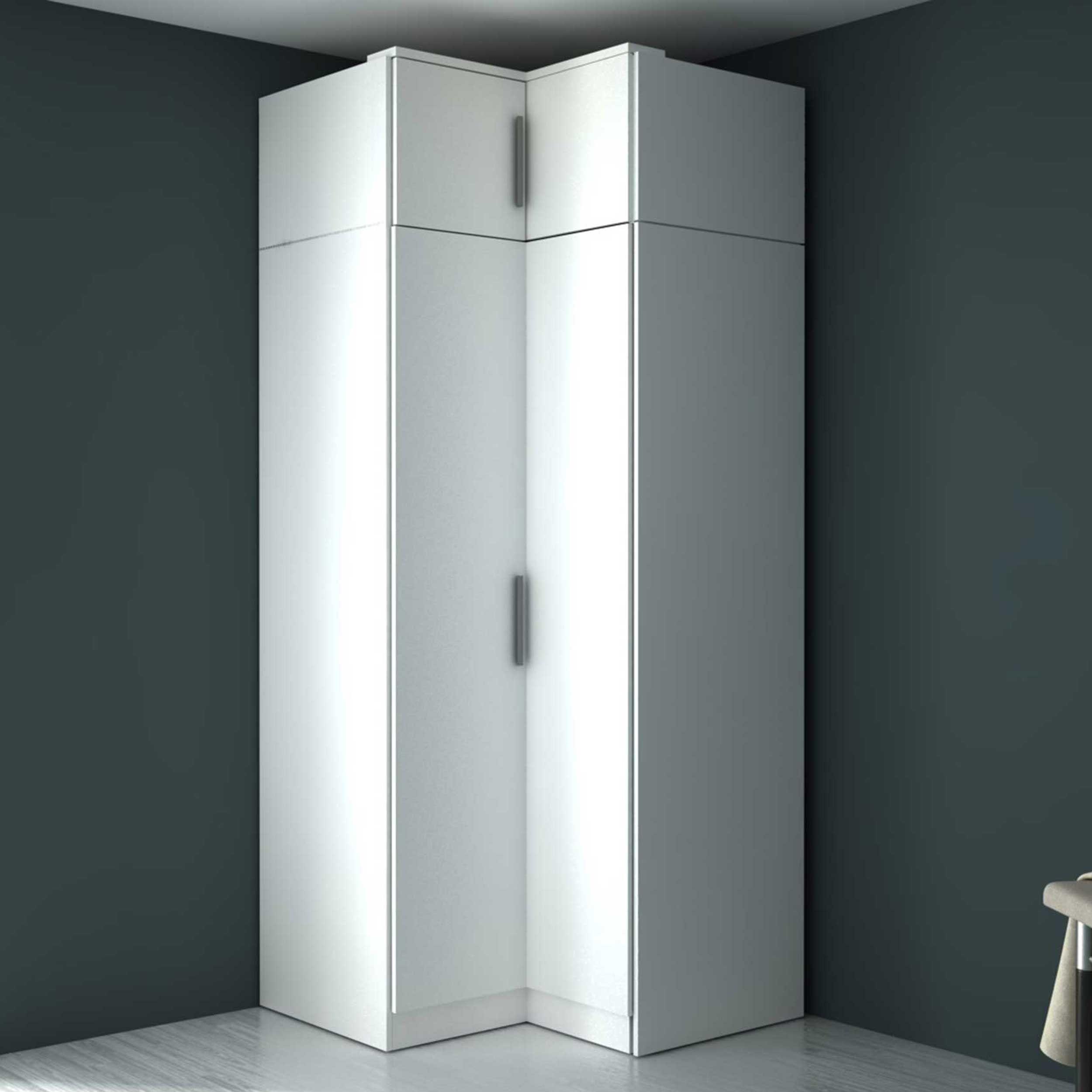 armoire d angle ramos 90cm avec 2 portes blanc