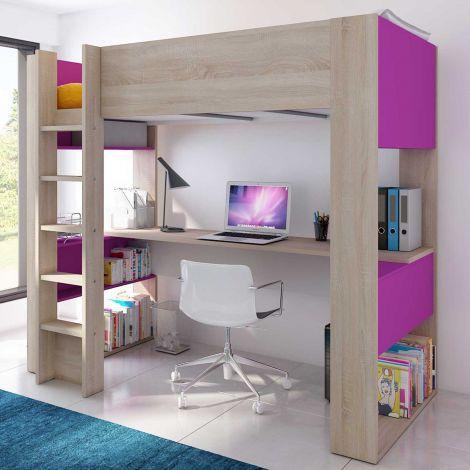 lit mezzanine avec ou sans bureau emob