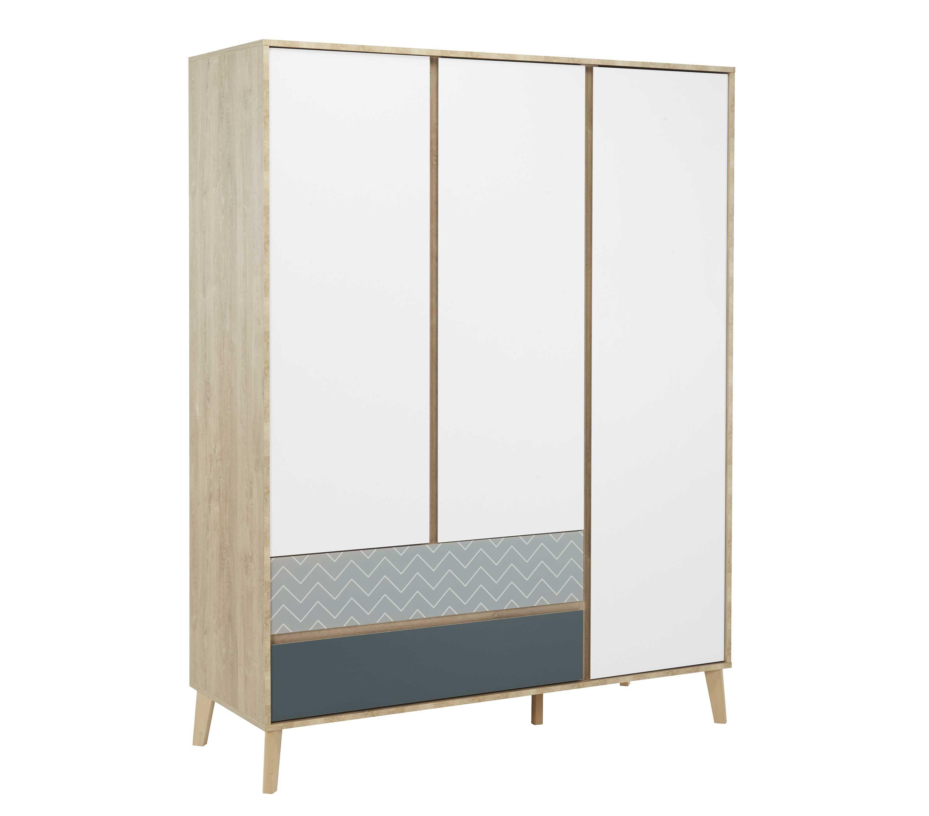 larvik armoire 3 portes 2 tiroirs