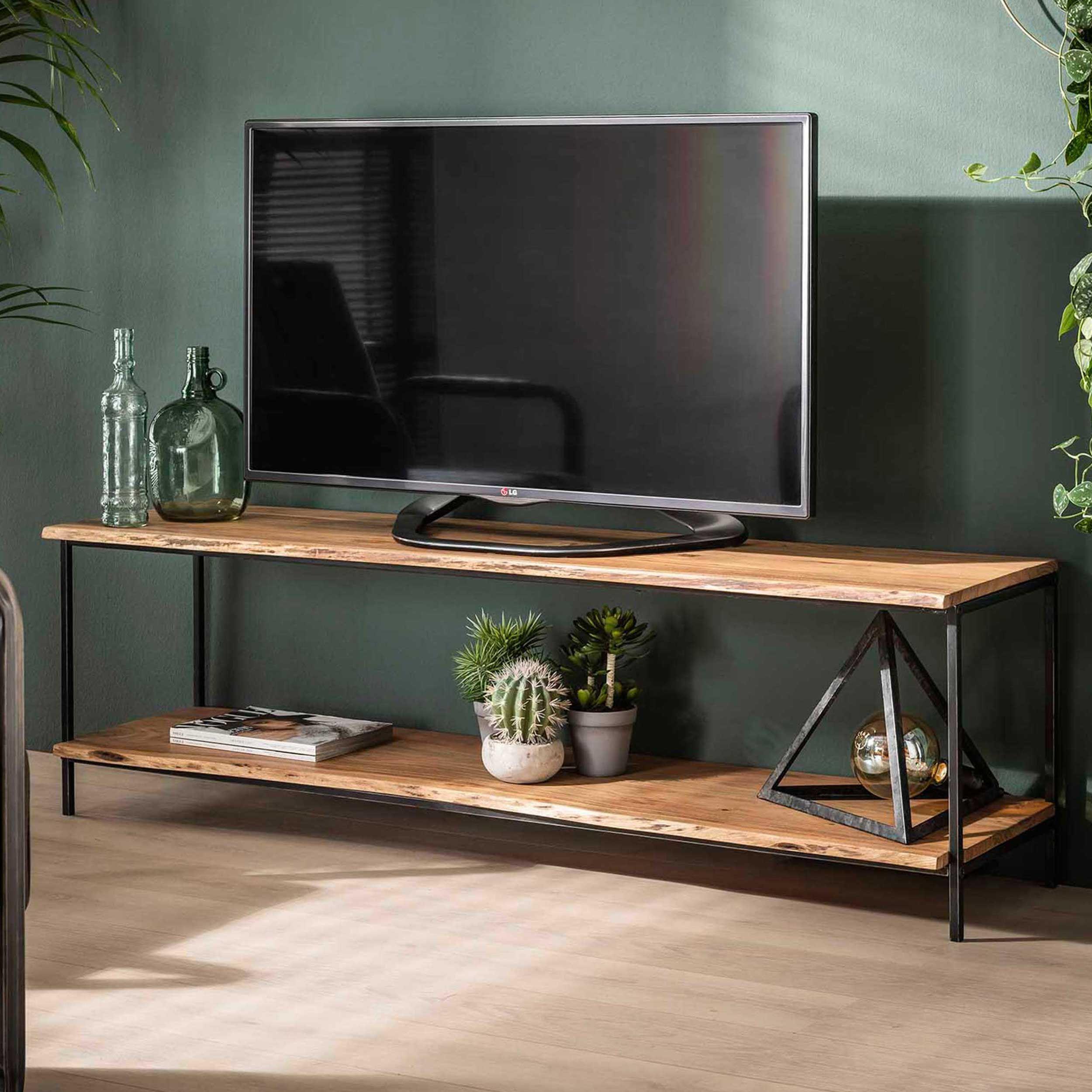 meuble tv ernest 150cm industriel acacia