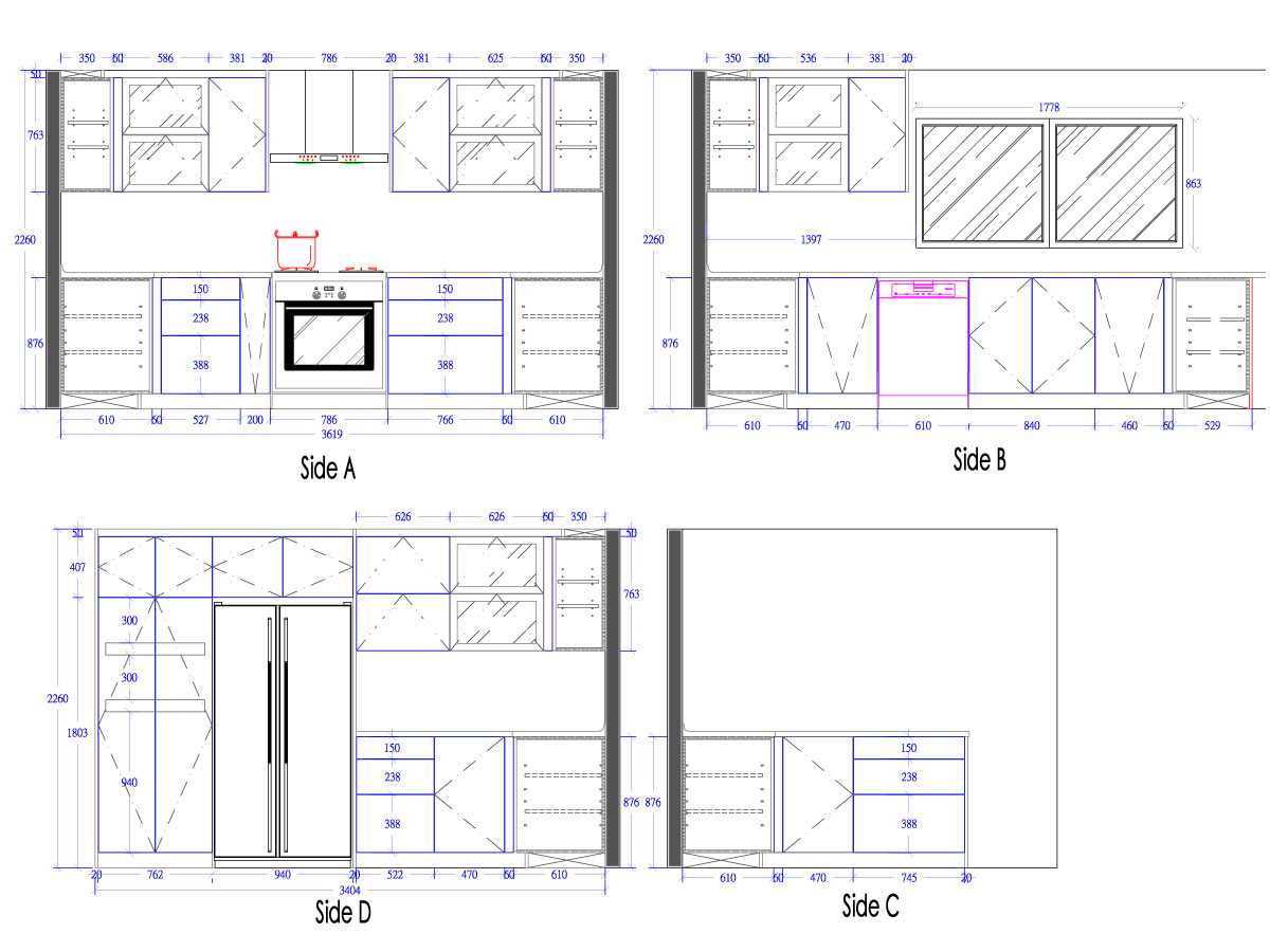 Kitchen Layouts With Dimensions Others Extraordinary Home