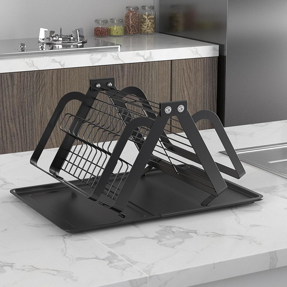 rust proof kitchen countertop dish rack