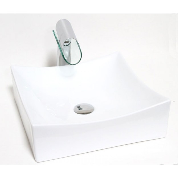 european style square porcelain ceramic countertop bathroom vessel