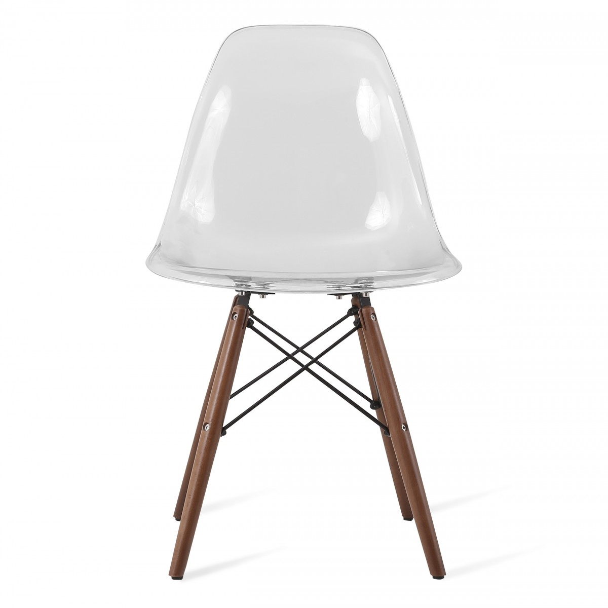 Eames Style Dsw Clear Acrylic Plastic Dining Shell Chair