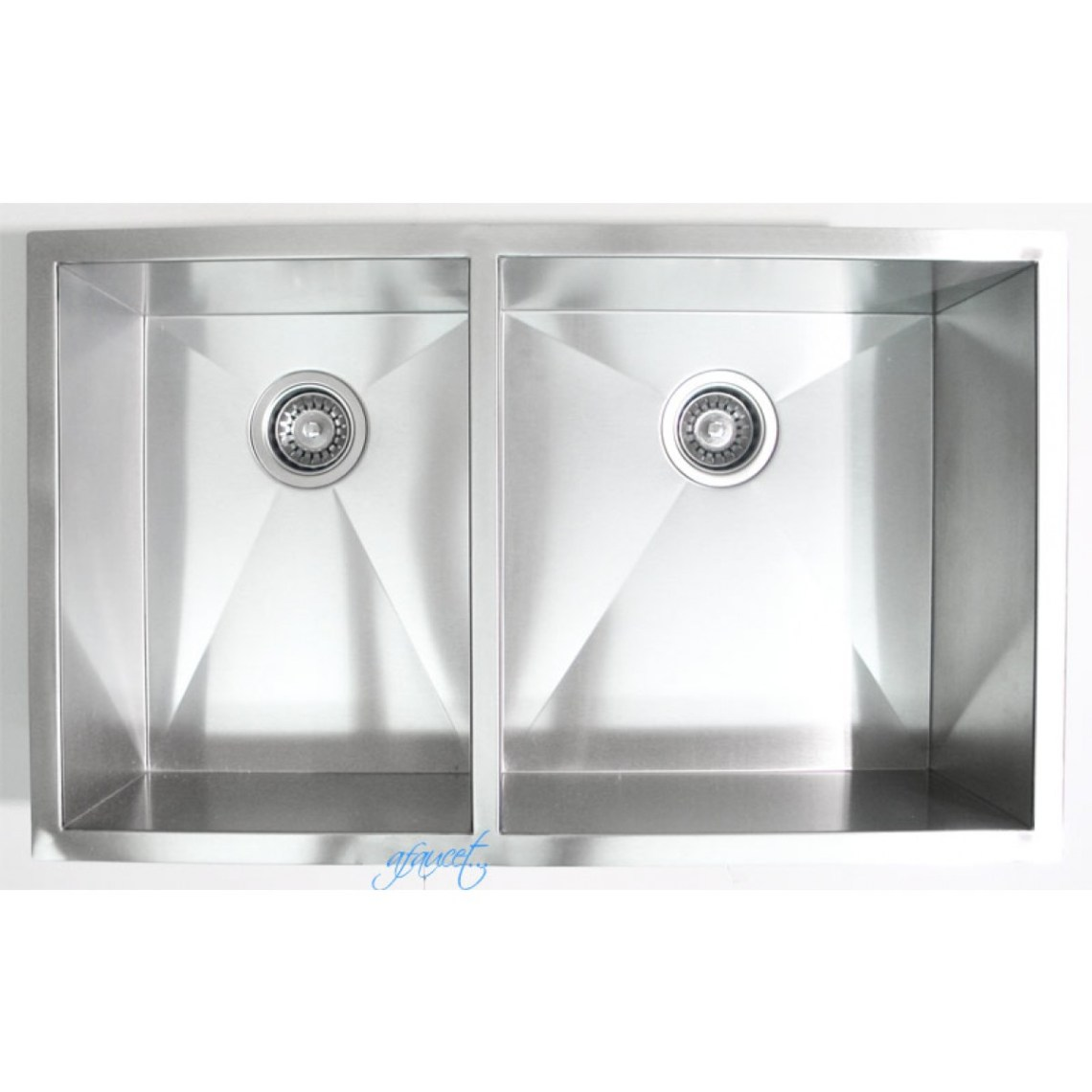 32 Inch Stainless Steel Undermount 40/60 Double Bowl ...