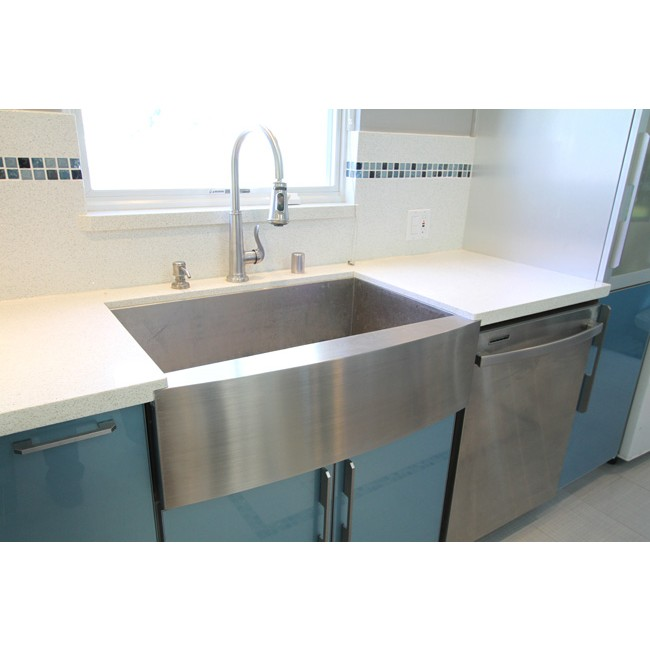 36 inch stainless steel single bowl curved front farmhouse apron kitchen sink
