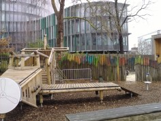 One of the few German playgrounds that did not have a nautical theme.