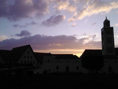 Al-Akhawayn University at sunset.