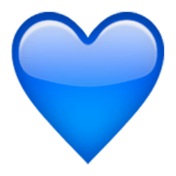 blue hearts emoji png blue path decorations pictures full path