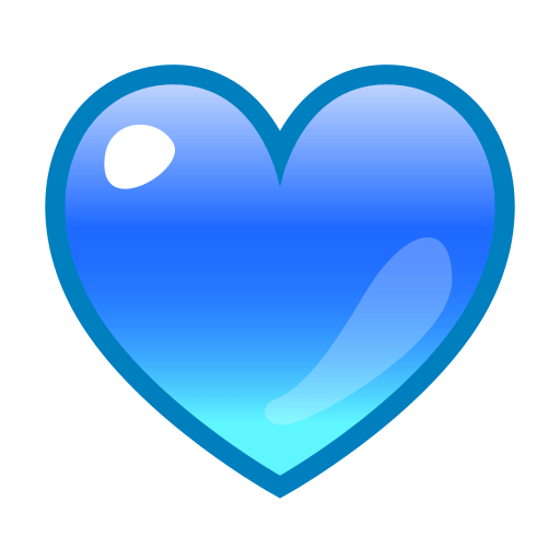 Blue Hearts Stickers For Facebook
