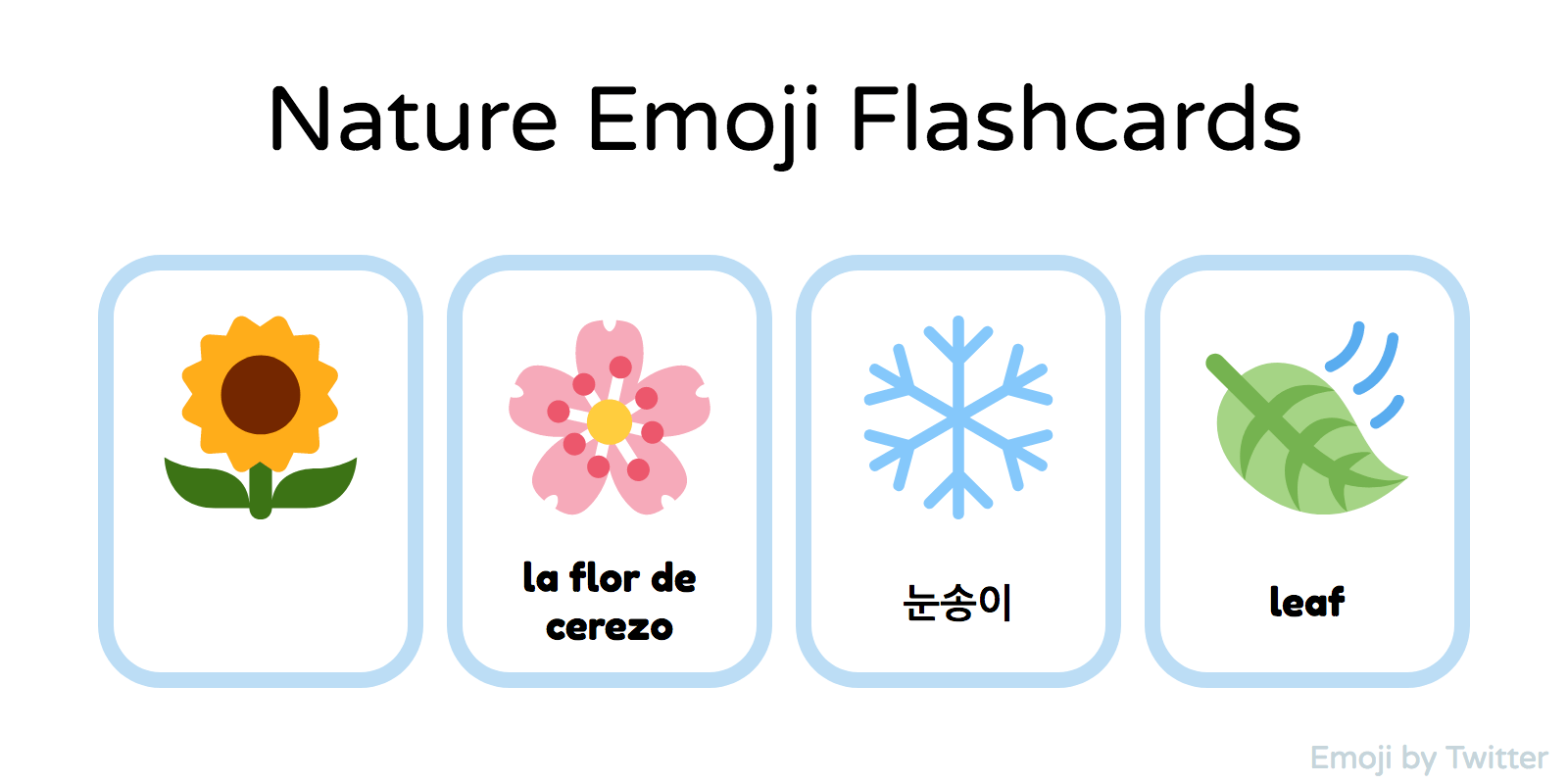 Nature Printable Flashcards