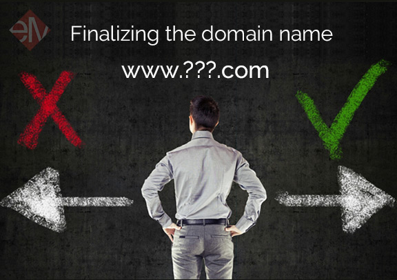 Finalizing the domain name