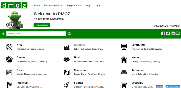 Dmoz Directory Submission