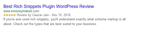 Rich Snippets In Meta Description