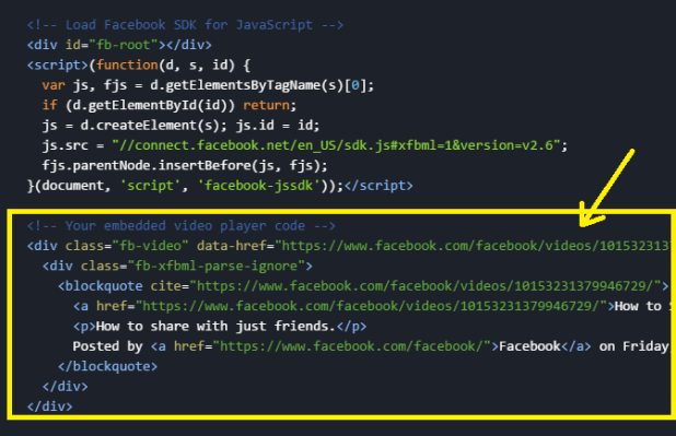 Add the Facebook JavaScript SDK Code