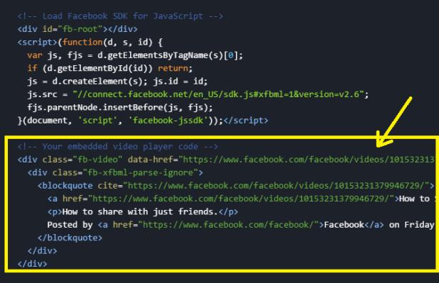 Add the Facebook JavaScript SDK Code