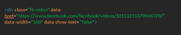 AutoPlay Facebook Videos in WordPress Blog