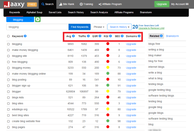 Jaaxy best keyword research tool
