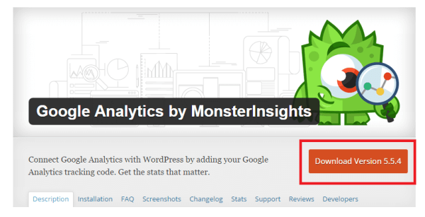 Google Analytics plugin by MonsterInsights