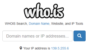 Whois is the site to get the contact information of the owner of a domain name